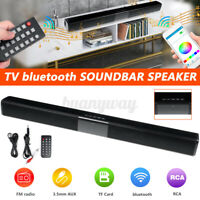 Wireless bluetooth Soundbar Speaker Sound Bar TV Home Theater Subwoofer W/ RCA