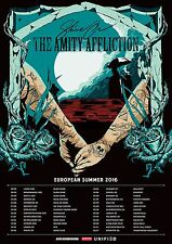 """THE AMITY AFFLICTION """"SHINE ON EUROPEAN SUMMER 2016"""" CONCERT TOUR POSTER"""