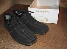 Women's Easy Spirit Black Suede Leather - New in Box Tennis Shoes 8