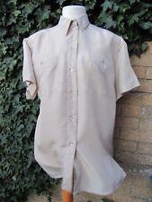 DeVille Ladies Vintage Cream 100% Genuine Silk Shirt Size L (44)