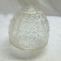 Vtg Clear Glass Grape Acorn Porch Entry Bathroom Light Globe Shade Fixture