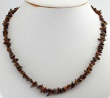 PIEDRA OJO DE TIGRE CADENA Preciosas minerales, collar, collar aprox. 45cm Joya