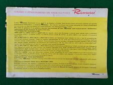 (R9) RIVAROSSI CATALOGO Anni '50/'60 comando treni elettrici KATALOG prospekt