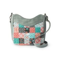 2b3bff6de Donna Sharp Michelle Melon MINT Patch Tote Bag Handbag Teal Peach Grey