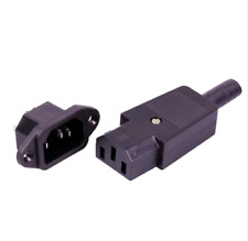 3 Pin IEC320 C14 C13 Plug & Jack 220V DC/AC Power Jack Terminal 3 Pin AC/DC