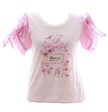 tp-101 rose soir RUBAN FLEURS BLANC tee-shirt sweet lolita pastel gothique