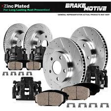 For 2000-2002 Toyota Tundra Front Gold Drill Slot Brake Rotors+Ceramic Brake Pad