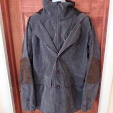 Ski Jacket Coat Men's XL Thin Corduroy Gray Waterproof Windproof Hooded