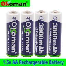 Rechargeable battery AA 4pcs 1.5V 3800 mAh new alkaline