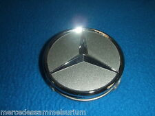 Mercedes Benz Original Satz 4 Radnabenkappen 75mm Titansilber Neu OVP