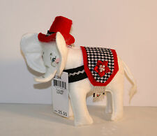 "Annalee Classy White Elephant 8"" Animal Figure"