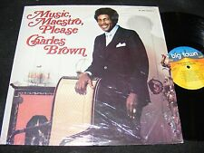 MUSIC MAESTRO PLEASE Charles Brown Soul Vocal Rarity LP BIG TOWN 1978 Issue CLEN
