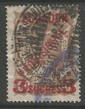 Ecuador. 1928. scadta 3 SUCRE su 60 Giallo Marrone. SG: 5. USATA OTTIMA.