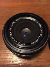 Pentax M 40mm f2.8 Pancake Prime Manual Focus Lens PK