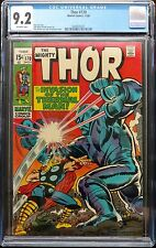 MIGHTY THOR #170 CGC 9.2 1969 OFF WHITE PGS THERMAL MAN LEE/KIRBY!!!NICE