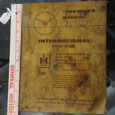 International Motor trucks Operators Manual owners guide original R & RF series