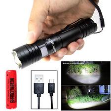 Super Hell 80000lm CREE LED Taschenlampe USB Aufladbare Taktisch Fackel ZOOM