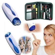 Hair Remover Electric Epilator Trimmer Face & Body Unisex + Manicure Set RRP $45