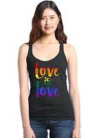 Love is Love Racerback Tank Top Gay Pride Rainbow Equal Rights LGBT Tee