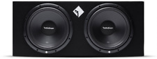 "R12X12 ROCKFORD FOSGATE / PRIME R1 DUAL 12"" SUBS LOADED IN ROCKFORD BOX **NEW**"