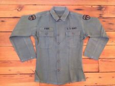 """Vintage 60s US Army MACV Ford Patches OD Green Cotton Field Uniform Shirt 42"""""""