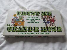 1981 LA GRANDE RUSE TRUST ME BOARD GAME JEU PARKER BROTHERS COMPLETE