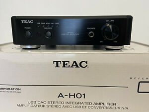 TEAC A-H01 USB DAC Stereo Integrated Amplifier - Black