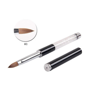 BQAN 1Pc Acrylic Nail Art Brush Kolinsky Sable Hair Tools 8#