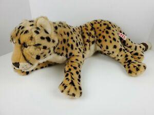 "FAO Schwarz Realistic Cheetah Leopard Plush Stuffed Animal 26"" Cat Toys r Us"