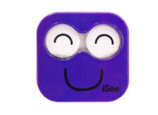 NEW iSee Purple Contact Lens Eye Care Kit