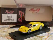 "BANG FERRARI DINO 246 GT ""STREET"" 1969 YELLOW ART.7143 DIE-CAST 1:43 NEW RARE"