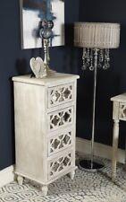 Hampton Washed Ash 4 Drawer Chest Tallboy Bedroom Storage Cabinet