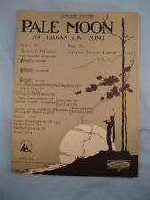 Pale Moon Sheet Music Vintage 1920 Frederic Knight Logan Indian Love Song (O)