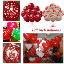 10-100 Pièces Forme Coeur Mélange Couleur Transparent Ballons Air / Hélium