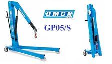 GP05/S Gru idraulica a carrello pieghevole OMCN 500 Kg semplice effetto