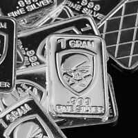 """/""""Boeing AH-64 APACHE ATTACK helicopter/"""" Lot of 10 1 gram .999 Fine silver bar."""