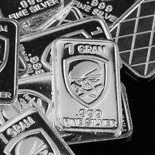US Army Special Forces, Lot of 10, 1 gram .999 Fine silver bullion bar. NEW