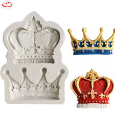 3D Royal Crown Silicone Fondant Mould Cake Cupcake Decor Sugarcraft Icing Mold