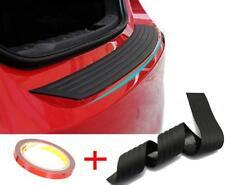 Car Black Rear Bumper Sill/Protector Plate Rubber Cover Guard Back Door Trim