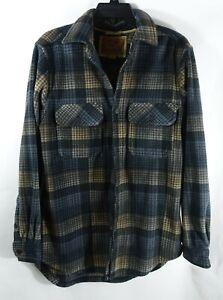 Men Outdoor Life Polar Fleece Shirt Jacket Small Western Chest Pockets