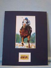 Triple Crown Winner Secretariat wins the Kentucky Derby & the Horse Racing Stamp