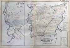 1913 GLEN RIDDLE LENNI, SOUTH MIDDLETOWN DELAWARE COUNTY PENNSYLVANIA ATLAS MAP