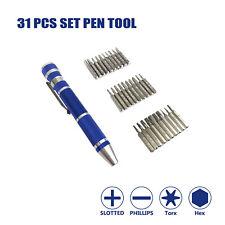 KUMA 31pcs Bits Multi-function Precision Pocket Screwdriver Set Pen Tool Kit