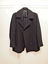UNIQLO Jacket Pea Coat Lined Large US 12 Large L Navy Excellent Condition