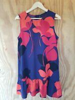 Halogen Nordstrom Women's Dress Sleeveless Round Neck Polyester Fall.Size M
