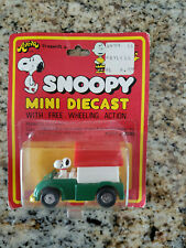 "NIP 1965 Aviva ""Snoopy In Dog House Truck"" Die Cast Toy #2030 Peanuts Schulz"
