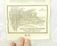 Vtg Brass Sewing Pins Original Package Heather Pin Oakville-American Scovill 160