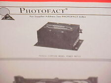 1969 PEARCE-SIMPSON CB RADIO AC POWER SUPPLY SERVICE MANUAL MODEL POWER MATCH