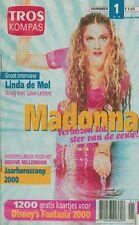 "MADONNA cover and 2 pages TROS KOMPAS Dutch MAGAZINE January 2000 9x6"""