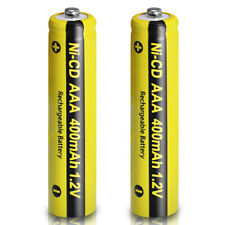 1.2v 400mAh Aaa Rechargeable Battery NiCd for Solar Lights Button Top 2pcs